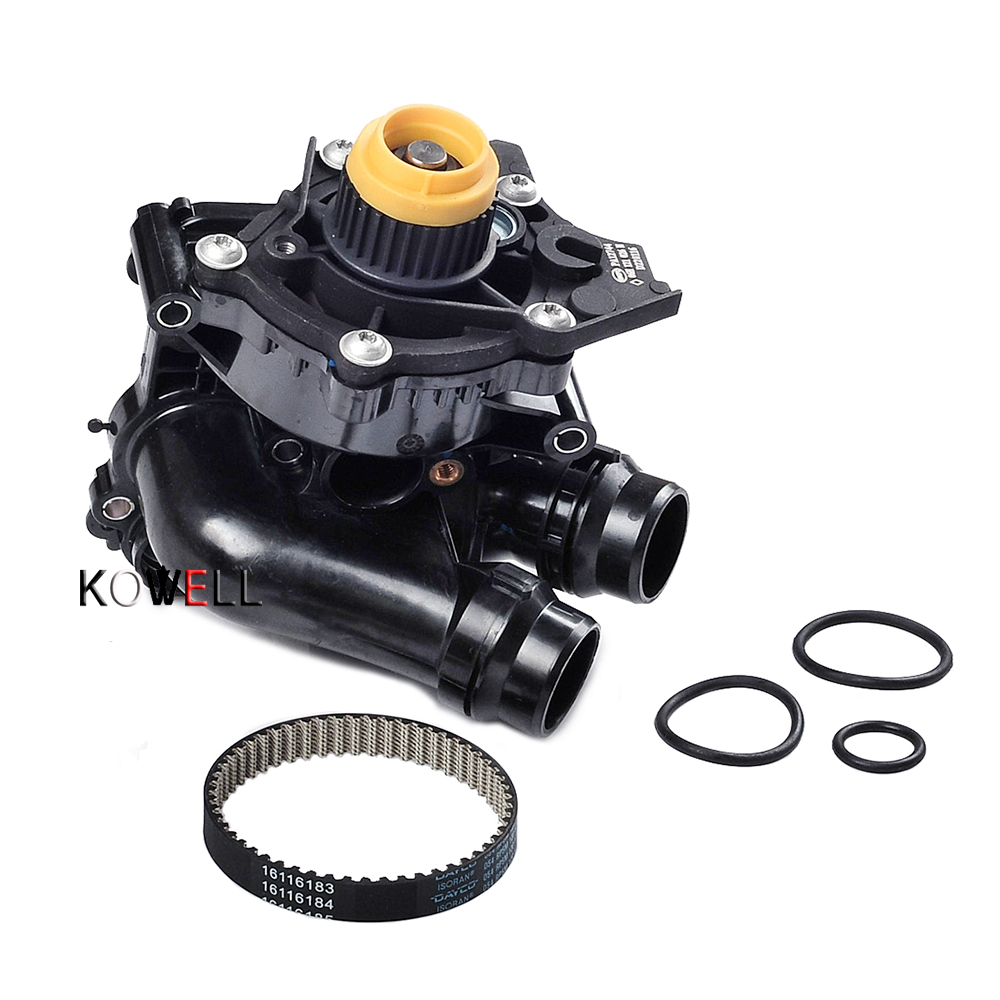 Engine Water Pump & Belt Assembly Thermostat For VW Tiguan Jetta GTI CC AUDI A3 A4 A5 2.0TFSI 06H 121 026 CQ 1pcs electric engine water pump 1pcs thermostat for bmw x3 x5 328i 528i 128i 11517586925 11537549476