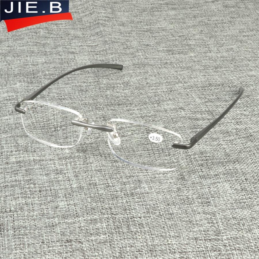 fa740a6637 B Aluminum Designer Rimless Ultra light Reading Glasses Men Women ochki  dlya chteniya sin montura gafas de lectura-in Reading Glasses from Apparel  ...