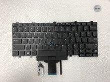 Новая клавиатура для ноутбука DELL Latitude E5450 E5470 E7450 E7470 US с подсветкой