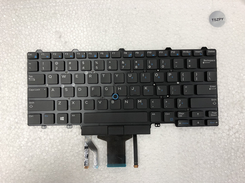 New laptop keyboard for DELL Latitude E5450 E5470 E7450 E7470 US layout with backlit keyboard-in Replacement Keyboards from Computer & Office on