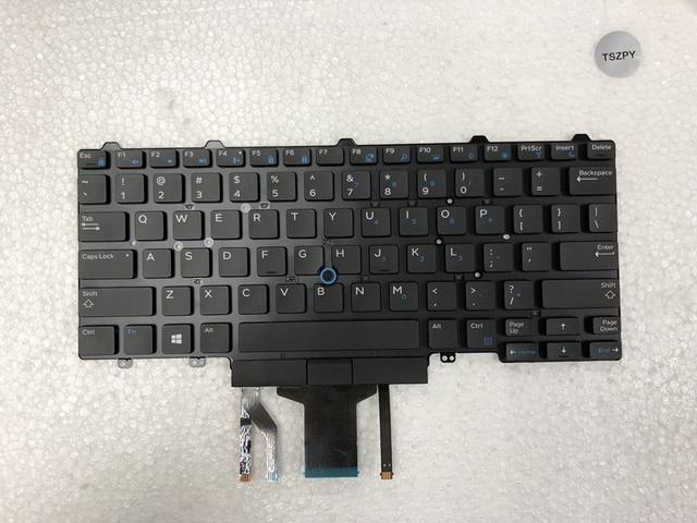 Nieuwe laptop toetsenbord voor DELL Latitude E5450 E5470 E7450 E7470 US layout met verlicht toetsenbord