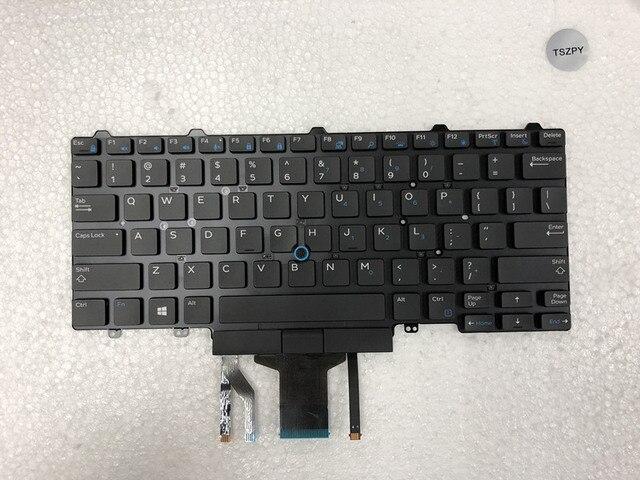 Nouveau clavier dordinateur portable pour DELL Latitude E5450 E5470 E7450 E7470 US mise en page avec clavier rétro éclairé