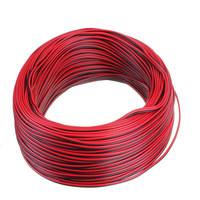 100M Power LED Strips Light Wipe Red Black 3528 5050 Flexible Extension CONNECTOR Cable 2 Pin