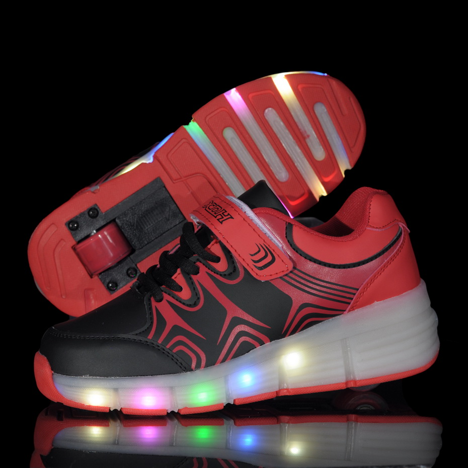 Heely skate shoes reviews - 2016 Child Jazzy Junior Girls Boys Led Light Children Roller Skate Shoes Kids Sneakers With Single Wheels
