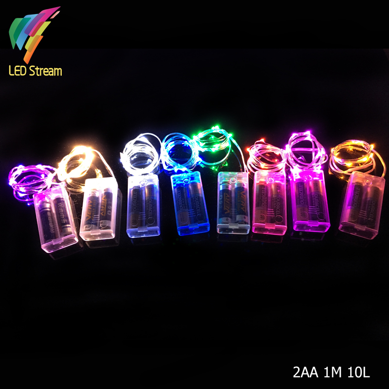 10 Bulb Christmas Lights Reviews - Online Shopping 10 Bulb ...:2AA Battery Powered 1M 10 Led Silver Color Copper Wire Mini Fairy String  Light Lamp For Christmas Holiday Wedding Party,Lighting