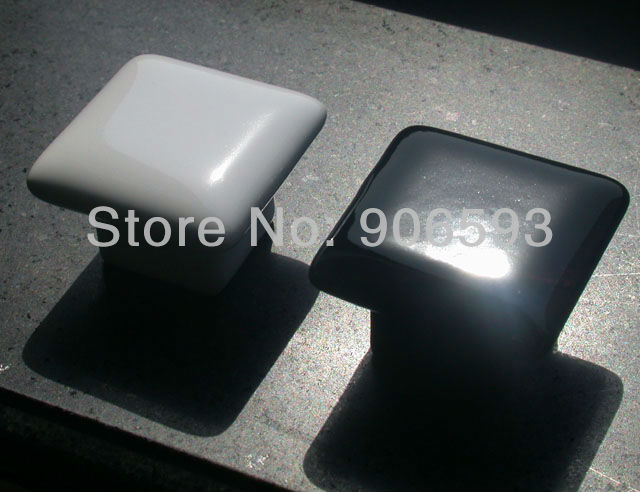 Купить с кэшбэком 50pcs lot free shipping Porcelain glaze square drawer knobs