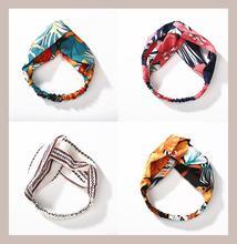 цены Women's Fashion  plaid print Headband  Elastic Hairband Head Hair Accessories for  Girls Striped Headwear Accessories