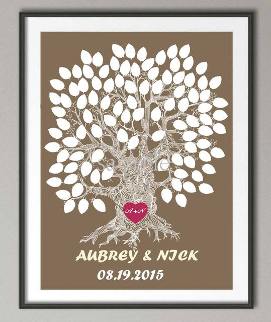 Wedding Sign Poster Print Pictures Family Tree Wall Art Canvas Painting  Frameless Wall Decoration Wedding Reception
