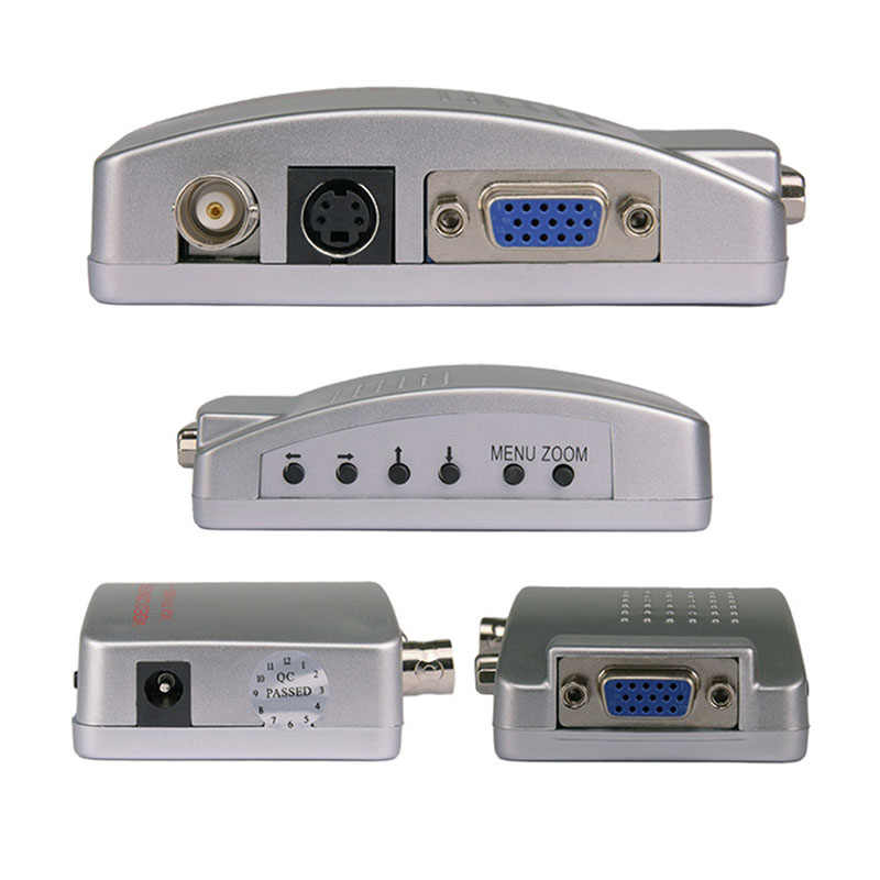 VGA to BNC Connector Signal Adapter Converter Video Switch Box Composite for Computer Laptop PC PAL VGA to TV AV RCA