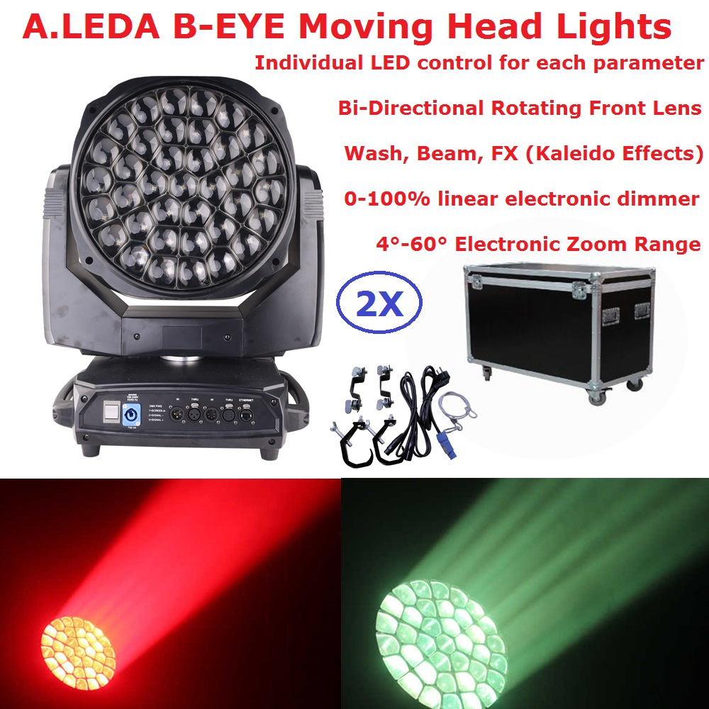 37X15W A.Leda B-EYE Moving Head Light Wash Beam Kaleido Effect 3IN1 Stage Lights With Bi-Directional Rotating Front Lens 21Chs37X15W A.Leda B-EYE Moving Head Light Wash Beam Kaleido Effect 3IN1 Stage Lights With Bi-Directional Rotating Front Lens 21Chs