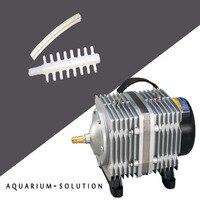 420 Вт Resun ACO 018 аквариума Электромагнитная воздушный насос Гидропоника воздушный компрессор большое давление аквакультуры аэратор
