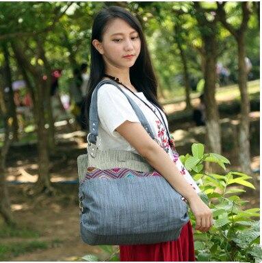 New Fashion Women Shopping Handbags!Hot National All-match Shoulder&Handbags Canvas lady Top Versalite Zipper Casual Tote Holder