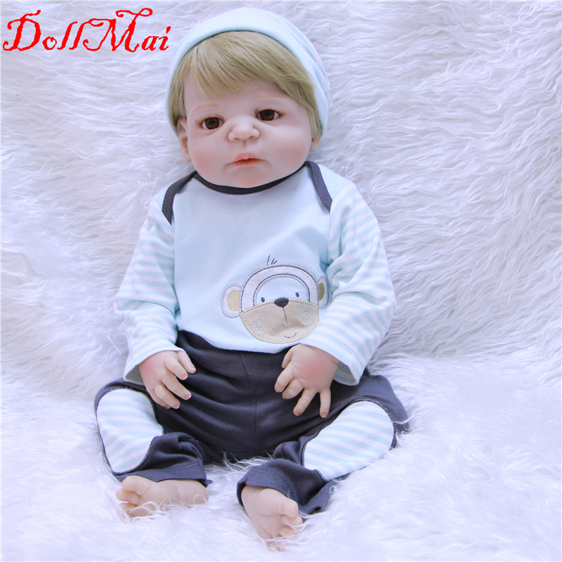 Doll reborn baby toys 22 55cm bebe boy girl reborn Full silicone reborn dolls for children gift toysDoll reborn baby toys 22 55cm bebe boy girl reborn Full silicone reborn dolls for children gift toys