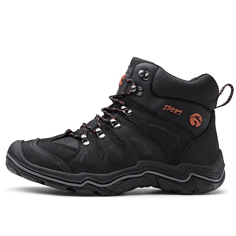 ธรรมชาติหนังผู้ชายรองเท้ากันน้ำกลางแจ้ง Anti   Slip ยางข้อเท้ารองเท้าฤดูใบไม้ร่วง Retro สไตล์รองเท้าปีนเขารองเท้าผู้ชาย-ใน รองเท้าบูทแบบเบสิก จาก รองเท้า บน   3