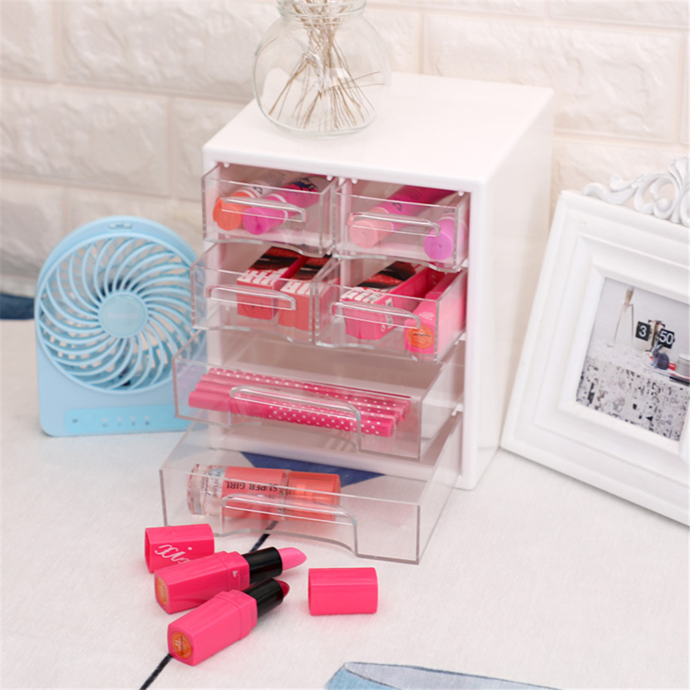 <font><b>Acrylic</b></font> Plastic Storage <font><b>Drawer</b></font> Minimalist Office Desk Storage <font><b>Drawer</b></font> Box <font><b>Organizer</b></font> Sundries Paper Document Container for Home image