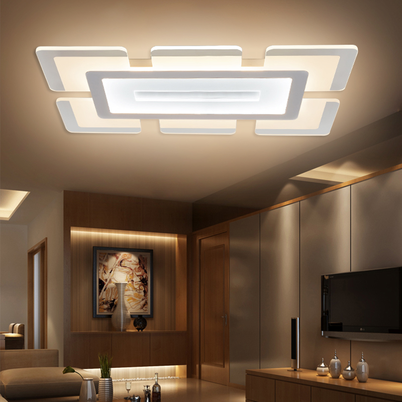 Modern Led Ceiling Lights For Indoor Lighting plafon led Square Ceiling Lamp Fixture For Living Room Bedroom Lamparas De Techo modern led ceiling lights for corridor foyer indoor fixture lighting decorative acrylic ceiling lamp 85 265v lamparas de techo