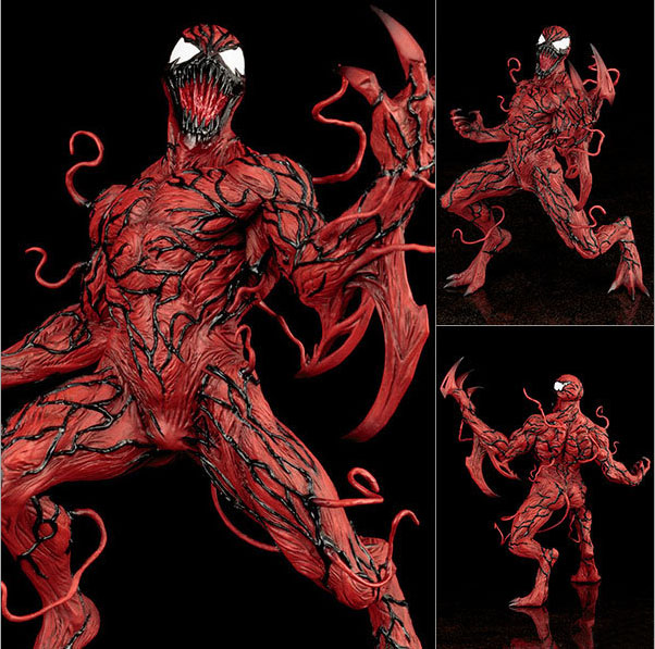 Free Shipping 6 Now Carnage Spiderman New 52 Kotobukiya Statue Boxed 16cm PVC Action Figure Collection Model Doll Toy Gift free shipping 6 comics dc superhero shfiguarts batman injustice ver boxed 16cm pvc action figure collection model doll toy