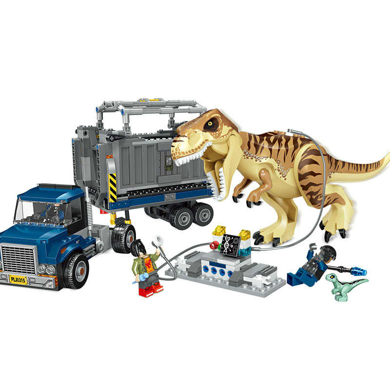 Jurassic World 2 T Rex Transport Building Blocks Indominus Dinosaur 75933 Jurassic Dinosaur Toys Bricks for Kids Gift