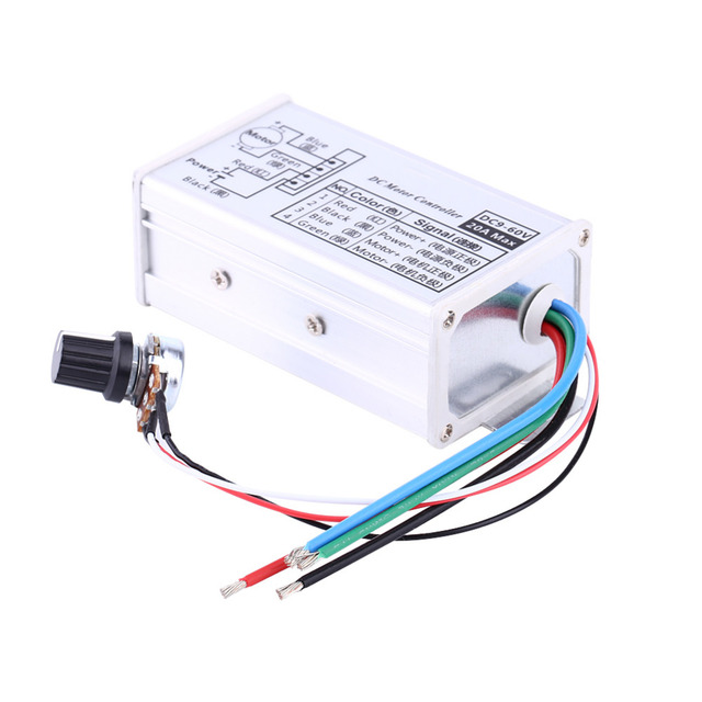 US $6 18 10% OFF Hot Sale DC 9V 12V 24V 48V 60V 20A Motor Speed Controller  Regulator Driver PWM High Quality-in Motor Controller from Home Improvement