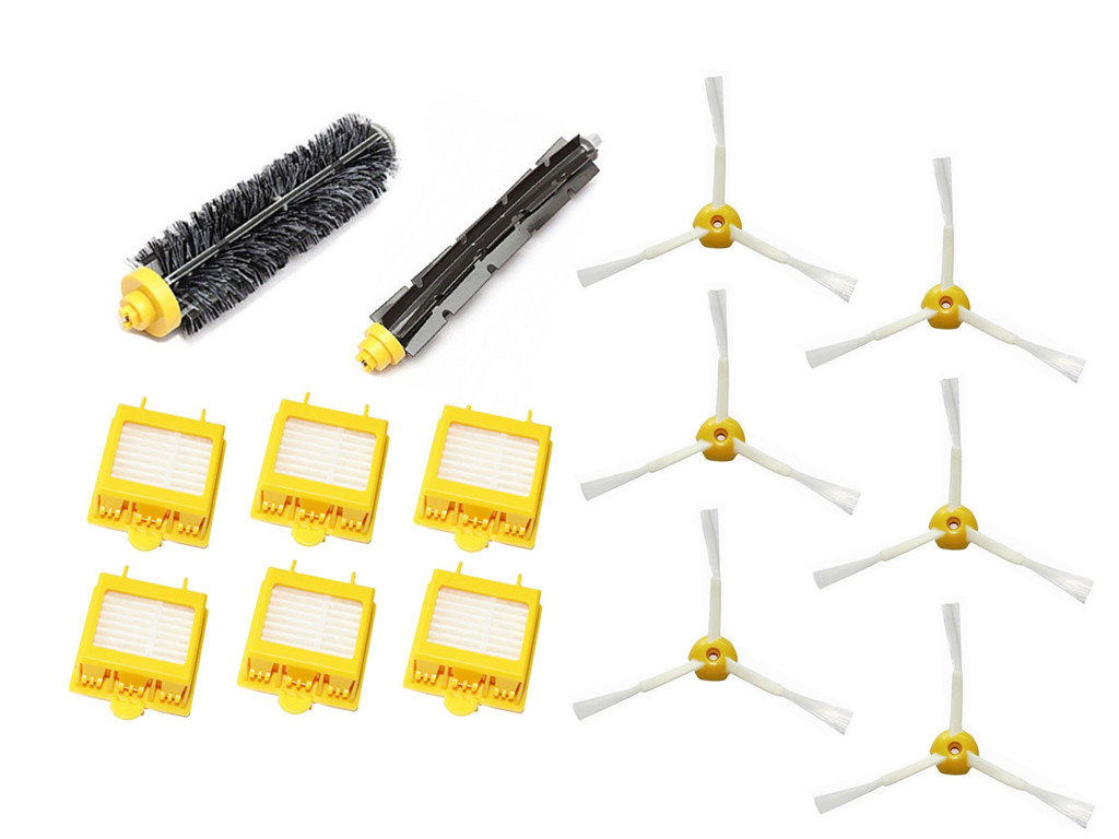 Hepa Filtres Brosse Flexible Beater Brush 3-armé Brosse Latérale Pack Ensemble pour iRobot Roomba 700 Series 760 770 780 790