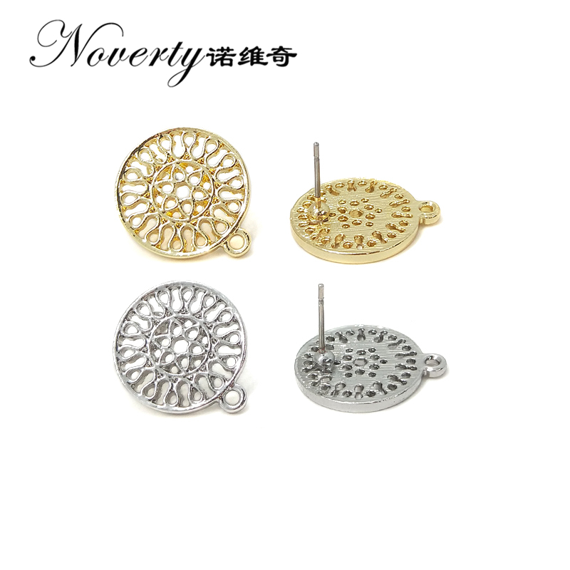 New Fashion 19*16mm 10pieces/bag Zinc Alloy Round Hollow Out Earring Base Connectors Linker for DIY Earring Jewelry Accessories hollow out round pattern alloy cuff bracelets