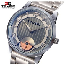 Luxury Brand Hombres Reloj TEVISE Relojes Dial Grande Luminosa Impermeable Relojes de Los Hombres Reloj Mecánico Automático Relogio masculino