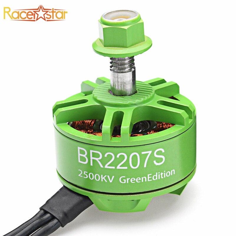 Racerstar 2207 BR2207S Green Edition 1600KV 2200KV 2500KV 3-6 s Bürstenlosen Motor Für RC Drone Rahmen Multicopter Ersatz teile Accs