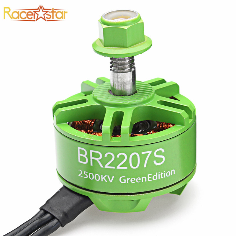 Racerstar 2207 BR2207S Green Edition 1600KV 2200KV 2500KV 3-6S Brushless Motor For RC Drone Frame Multicopter Spare Parts Accs цены