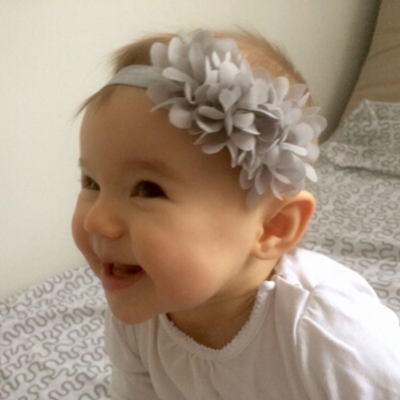 1PC Flower Headband Children Headwear Pearl Infant Toddler Girls Headbands Kids Hair Bands Accessories w 01