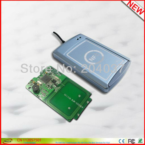 ФОТО RS232+ USB Contactless Smart Card/Tags NFC Reader and Writer ACR122s 13.56MHZ RF Support all 4 types of NFC tags Free Shipping