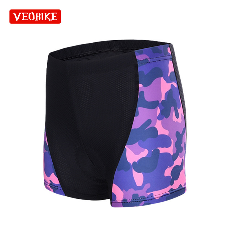 Veobike 3D Gel Pad Bicicleta Shorts Womens Cycling Short Bicycle Underwear Comfort Breathable Sportware Equipment