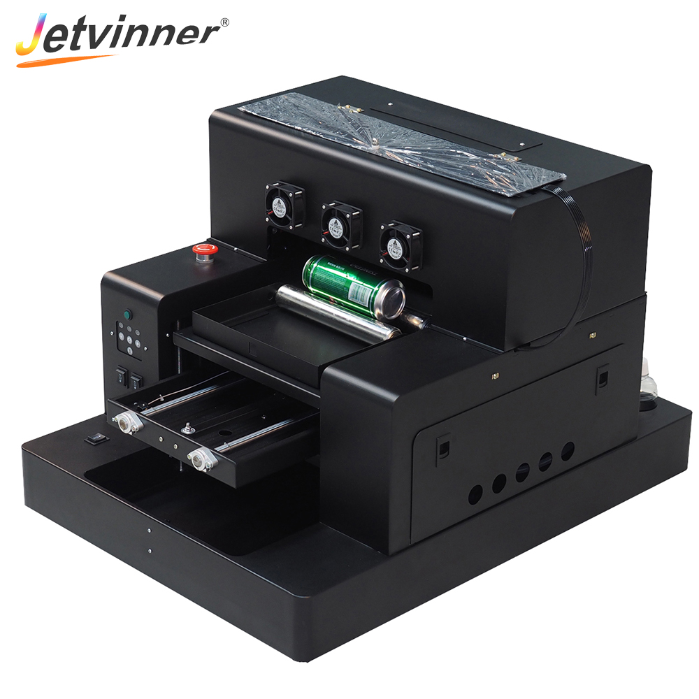 Jetvinner Automatic A3 Size UV Printers Inkjet Printers for Epson Print Machine for Phone Case Bottle