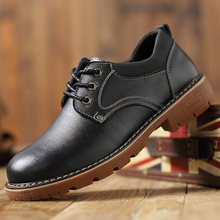 цена на Mens Genuine Leather Shoes Casual Fashion British For Men Large Size Cow Leather Men Boat Shoes Casual Classic Shoes For Male