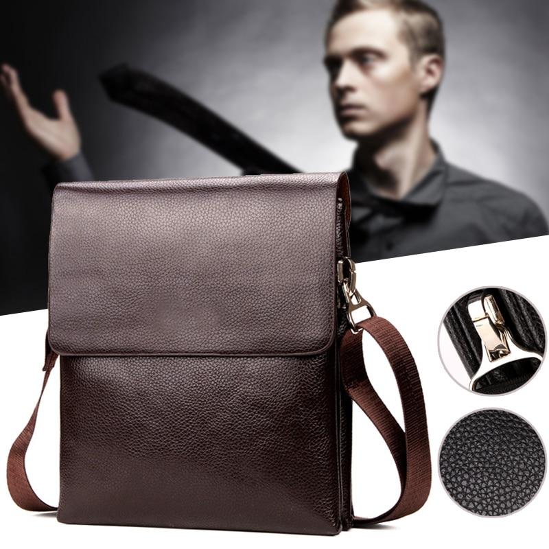 Briefcase Shoulder-Crossbody-Bag Messenger Mobile-Phone Zipper Hot-Selling Business Men