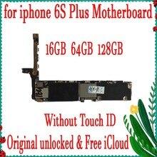 Хорошая работа для iphone 6s plus материнская плата оригинальная разблокированная Логическая плата для 6s plus 5,5 дюймов материнская плата без Touch ID