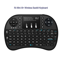 Rii mini i8 + sem fio backlight teclado com touchpad controle remoto touchpad para smart android caixa de tv tablet pc iptv