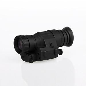 Image 3 - Free shipping  Hunting night vision riflescope monocular device night vision goggles PVS 14 digital IR illuminator for helmet
