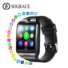 Купить с кэшбэком Q18 Smart Watch Bluetooth With Camera Facebook Whatsapp Sync SMS Smartwatch Support TF Sim Card for Android Phone PK A1
