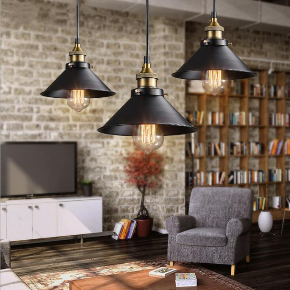 Vintage Ceiling Light Retro Loft Industrial Edison Bulb Metal Light American Style Lamp Hanging Fixtures|Ceiling Lights| |  - title=