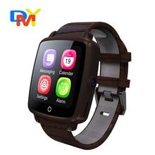 2016 mode smartwatch u11c lederband smart watch unterstützung micro sim-karte bluetooth konnektivität für apple android telefon