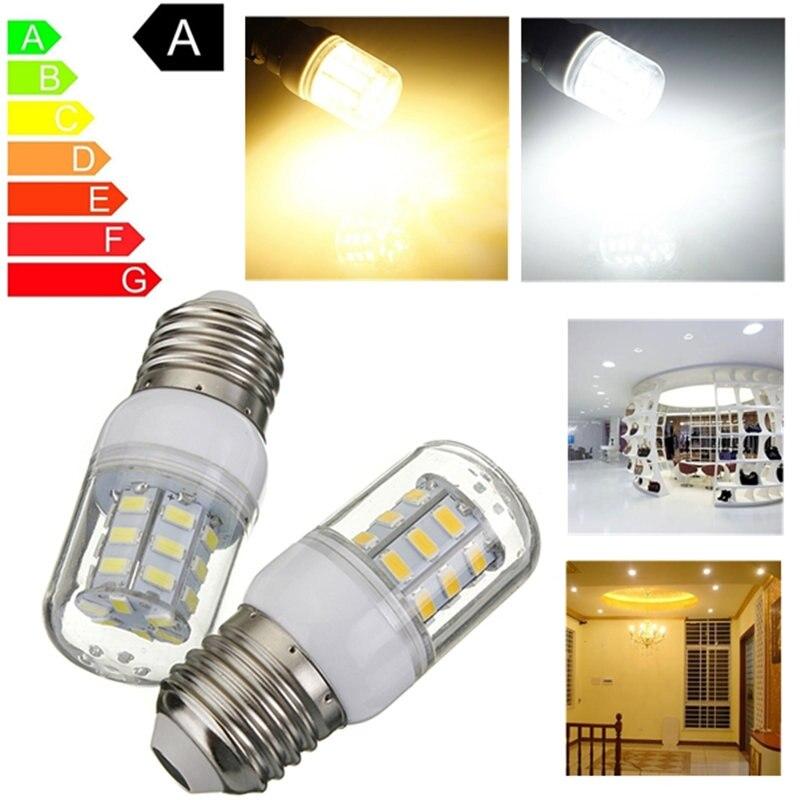 LED Light Bulb E27 5W 27 LED 5730 SMD Super Bright Energy Saving Lamp White Warm White Corn Lights Spotlight Bulb DC12V 420Lm