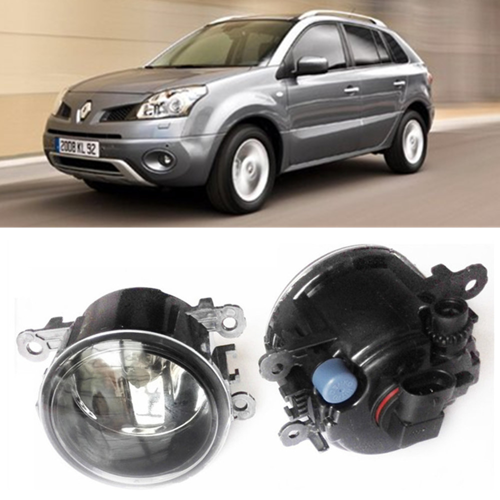 For Renault Koleos HY Closed Off-Road Vehicle  2008-2015 Car styling Fog Lamps halogen Fog lights 1SET for lexus rx gyl1 ggl15 agl10 450h awd 350 awd 2008 2013 car styling led fog lights high brightness fog lamps 1set