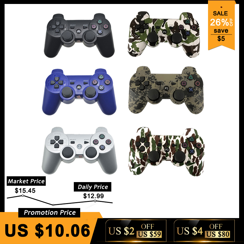 Bluetooth Controlador Para SONY PS3 Gamepad Para Playstation 3 Joystick Sem Fio Para Sony Playstation 3 SIXAXIS Controle pc