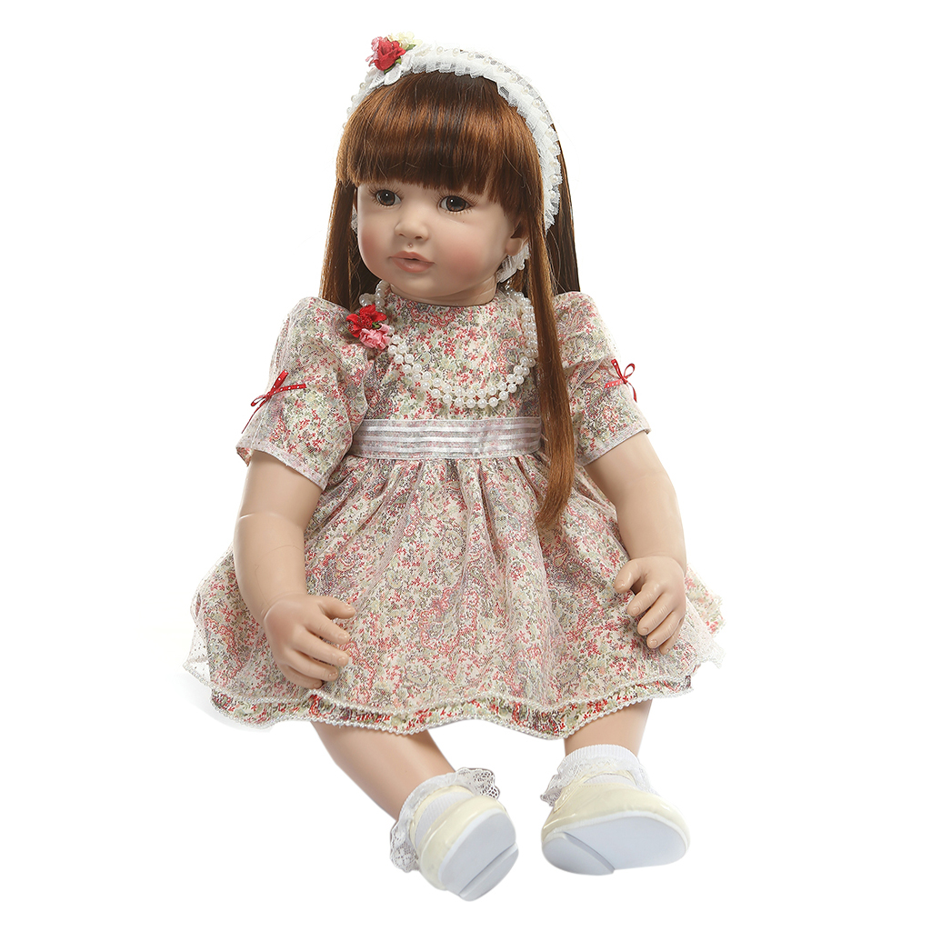 2019 New 24in Reborn Doll Silicone Vinyl Newborn Baby Toy Girl Realistic Princess Clothes Pacifier Lifelike Handmade Gifts2019 New 24in Reborn Doll Silicone Vinyl Newborn Baby Toy Girl Realistic Princess Clothes Pacifier Lifelike Handmade Gifts