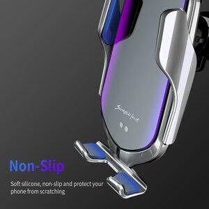 Image 3 - FDGAO 10W Qi Automatische Draadloze Autolader Voor Samsung S10 S9 S8 iPhone 11 X XS XR 8 Infrarood sensor Snelle Opladen Telefoon Houder