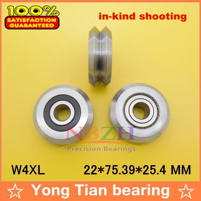 high quality ABEC-5 RM4-2RS / W4XL W4XXL 22*75.39*25.4 mm v wheeles W Groove Sealed Ball Bearing