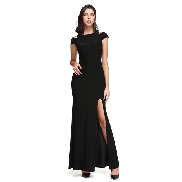 TS Couture Sheath Column Off-the-shoulder Ankle Length Jersey Prom Formal  Evening Dress with Split Front Party Gowns 255d30be273b