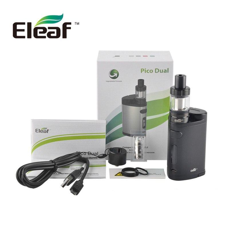 Eleaf Pico Dual 200W Kit 24mm 2ml Box Mod Vapor Cigarette Hookah Electronic Cigarette E Cig Elektronik Sigara Shisha