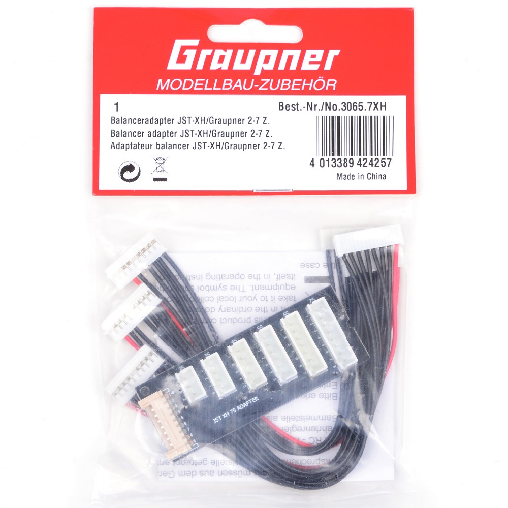 Graupner JST 7XH to XH 2-7cells Balance adapter W/ 7S cable  RC Accessories jst xh 2s 3s 4s 5s 6s lipo balance cable charging power wire 10cm