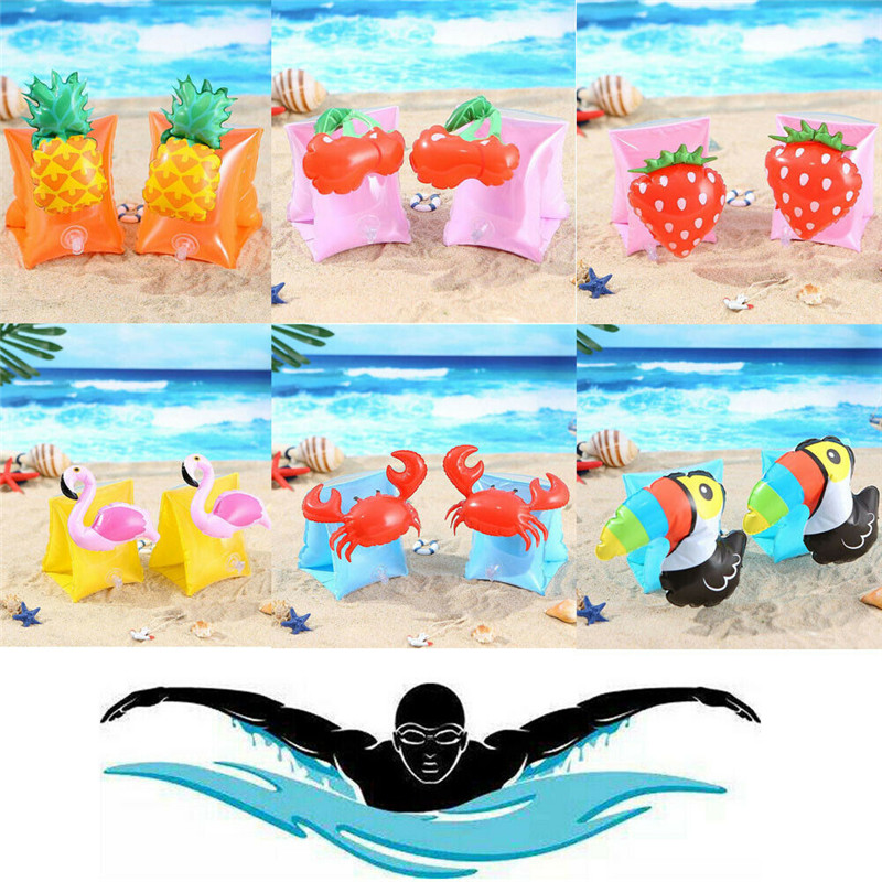 Newest Hot Baby Kids Inflatable Swim Pool Swimming Arm Ring Cute Safety Training Aid Float Ring Toy
